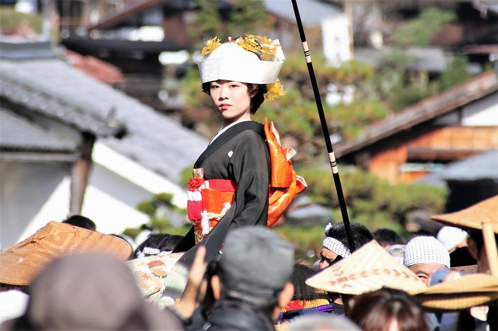 妻籠宿 11月の見どころ 文化・文政風俗絵巻の行列